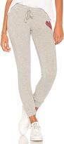 Lauren Moshi Kizzy Red Heart Sweatpant in Gray