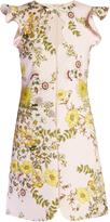 Giambattista Valli Floral-print ruffled crepe dress