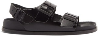 Birkenstock 1774 - Milano Avantgarde Ankle-strap Leather Sandals - Womens - Black