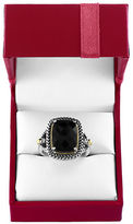 Effy Eclipse Onyx, Sterling Silver and 18K Yellow Gold Ring