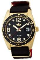 adidas Men's ADH2865 Brisbane Black/ Yellow Goldtone Watch