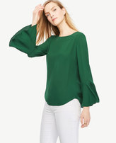Ann Taylor Fluted Sleeve Blouse