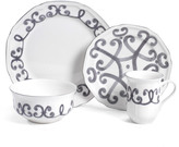 Mikasa Antique White Scroll 4 Piece Place Setting