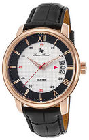 Lucien Piccard 40019-RG-02S-BC Men's Amici Black Genuine Leather White and