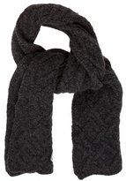 Moncler Charcoal Cable Knit SCARF
