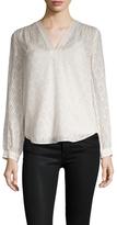 Rebecca Taylor Silk Geometric Coupe Sweater