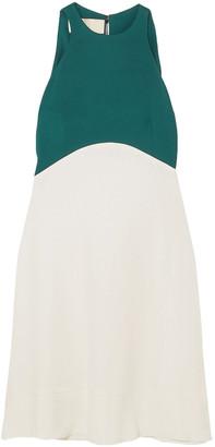 Antonio Berardi Two-tone Crepe Mini Dress