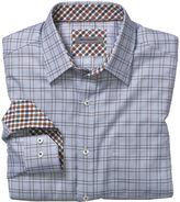 Johnston & Murphy Tailored Fit Micro ZigZag Windowpane Shirt