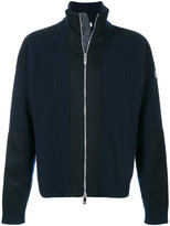 Moncler zipped ribbed sweater