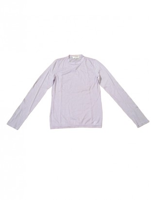 Saint Laurent Purple Cashmere Knitwear