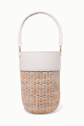 Kayu Lucie Leather And Straw Tote - White