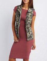 Charlotte Russe Camo Print Cargo Vest