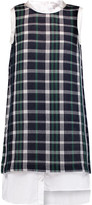 Clu Plaid woven cotton mini dress