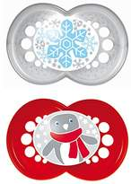 Mam 66699511 - original silicone dummy 16 plus months, winter edition for boys, double pack
