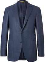 Canali Blue Kei Slim-Fit Unstructured Wool Blazer