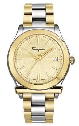 Salvatore Ferragamo 1898 Two-Tone Stainless Steel Bracelet Watch