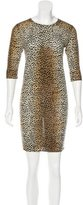 Dolce & Gabbana Cheetah Print Wool Dress