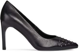 Geox Faviola Studded Leather Stiletto Pumps