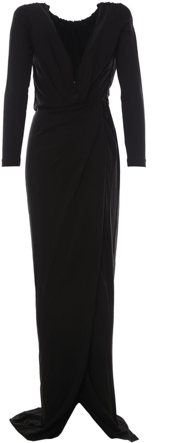 Thumbnail for your product : DSQUARED2 Deep-V Halter-Neck Maxi Dress