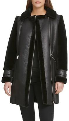 DKNY Faux Shearling Coat