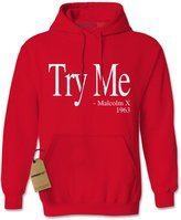 Expression Tees Hoodie Try Me Malcolm X Adult