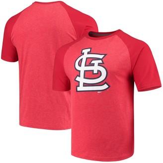 Stitches Men's Heathered Red St. Louis Cardinals Team Logo Raglan T-Shirt