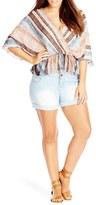 City Chic Plus Size Women's 'Heavenly Stripe' Print Batwing Top