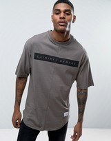 Criminal Damage Relaxed Fit T-shirt With Curved Hem