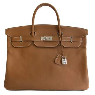 Hermes Birkin Voyage Gold Leather Travel bags