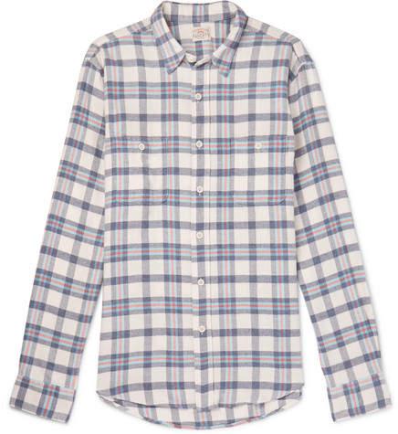 Faherty Seasons Checked Cotton-Flannel Shirt - Men - Gray