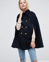 Asos Cape with Military Detail