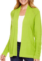 Liz Claiborne Long-Sleeve Open-Front Cardigan