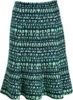 Oscar de la Renta Tweed Flounce Skirt