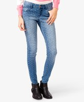 Forever 21 Dotted Skinny Jeans