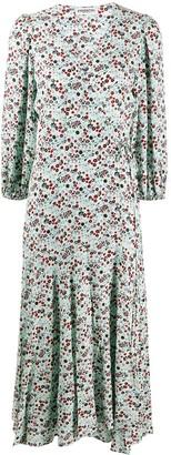 Essentiel Antwerp floral long-sleeve flared dress
