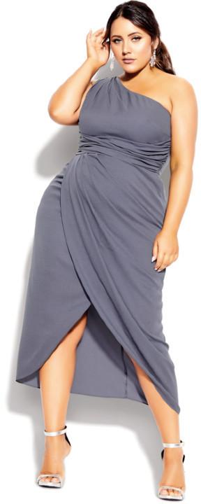 City Chic True Love Dress - platinum