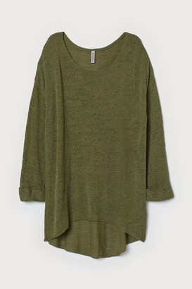 H&M Loose-knit Sweater - Green