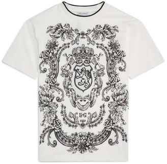 Dolce & Gabbana Kids Ornament Print T-Shirt (8-12 Years)