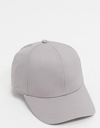 ASOS DESIGN baseball cap in grey