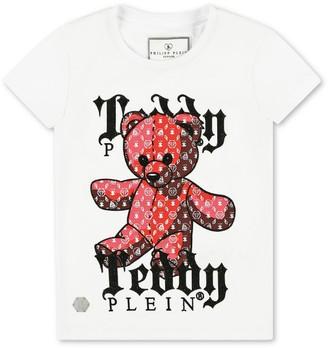 Philipp Plein Junior Cotton Teddy T-Shirt (4-16 Years)