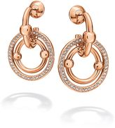 Folli Follie Bonds rose gold station drop earrings