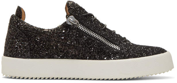 Giuseppe Zanotti Black Glitter May London Sneakers