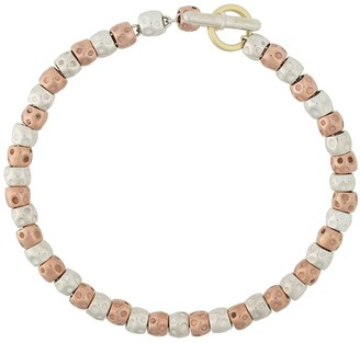 Dodo 9kt rose gold and silver bead Granelli bracelet