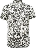 Dries Van Noten printed short sleeve shirt