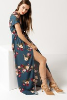 Azalea Floral Wrap Maxi Dress