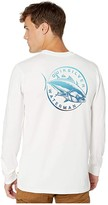 Quiksilver Waterman Quick Swimmer Long Sleeve (White) Men's T Shirt