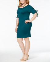 Moral Fiber Plus Size Lace-Up Bodycon Dress