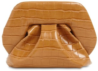 Themoire Gea Croc Embossed Faux Leather Clutch