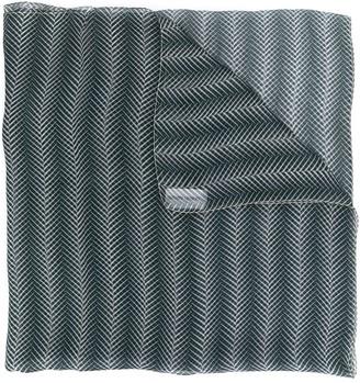 Giorgio Armani Pre Owned 1990's Leaf Print Scarf