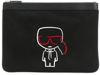 Karl Lagerfeld Paris K/Ikonik canvas Pouch